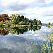 The View Across The Lake Art Print