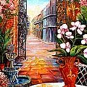 The View From A Courtyard Art Print