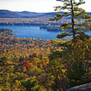 The View From Bald Mountain - Old Forge New York Art Print