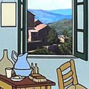 The View From Vincent's Room. Sold Art Print by Kenneth North
