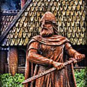 The Viking Warrior Statue  Art Print by Lee Dos Santos