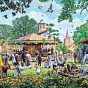 The Village Fayre  Art Print