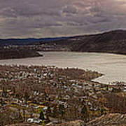 The Village Of Cold Spring And The Hudson River Art Print