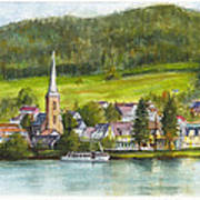 The Village Of Einruhr In Germany Art Print