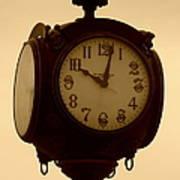 The Vintage Town Clock Art Print