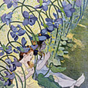 The Violets Lively Flowers Art Print