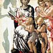 The Virgin And Child With Saint John And Angels Art Print