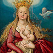 The Virgin As Queen Of Heaven Suckling The Infant Christ Art Print