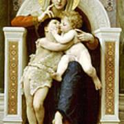 The Virgin The Baby Jesus And Saint John The Baptist Art Print