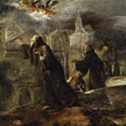 The Vision Of St Francis Of Paola Art Print