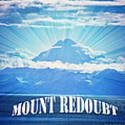 The Volcano Mt Redoubt Art Print