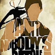 The Walking Dead Inspired Daryl Dixon Typographic Artwork Art Print by Ayse Deniz