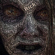 The Walking Dead Names Zombie Mosaic Art Print