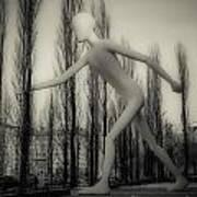 The Walking Man - Bw Print by Hannes Cmarits