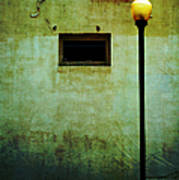 The Wall And The Lamppost Art Print