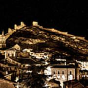 The Walls Of Albarracin In The Summer Night Spain Art Print