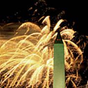 The Washington Monument And Fireworks Art Print