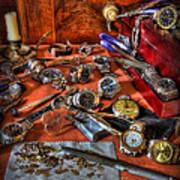 The Watchmaker's Desk Art Print