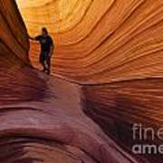 The Wave Beauty Of Sandstone 1 Art Print