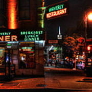 The Waverly Diner And Empire State Building Art Print