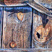 The Weathered Abstract From A Barn Door Art Print