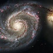 The Whirlpool Galaxy M51 And Companion Art Print by Adam Romanowicz