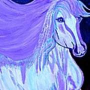 The White And Purple Horse 1 Art Print