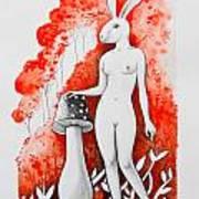 The White Bunny Art Print