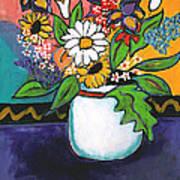 The White Daisy Art Print