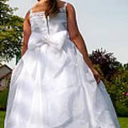 The White Dress Art Print