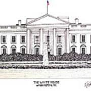 The White House Art Print