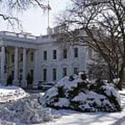 The White House In Winter Art Print