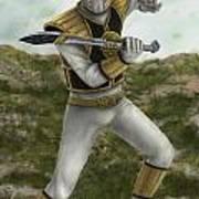 The White Ranger Art Print