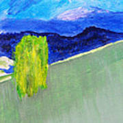 The Willow On The Hill #2 Art Print