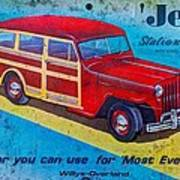 The Willys - Overland Jeep Station Wagon Art Print