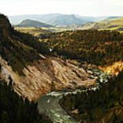 The Winding Yellowstone Art Print