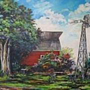 The Windmill Of The Garden Art Print by Kendra Sorum