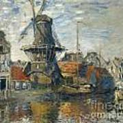 The Windmill On The Onbekende Gracht Amsterdam Art Print