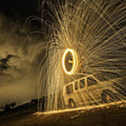 The Windmill Steel Wool Art Print by Israel Marino