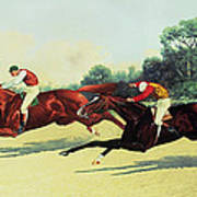 The Winning Post In Sight Art Print by Henry Stull