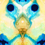 The Wise Ones - Visionary Art By Sharon Cummings Print by Sharon Cummings
