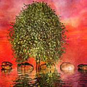 The Wishing Tree One Of Two Print by Betsy Knapp