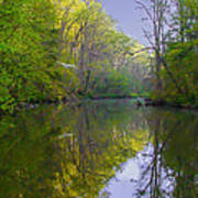 The Wissahickon Creek In The Morning Art Print