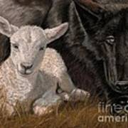 The Wolf And The Lamb Art Print by Sheri Gordon