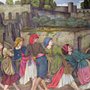 The Women Of Sorrento Art Print by John Roddam Spencer Stanhope