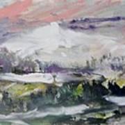 The Wooded Hills Below Art Print