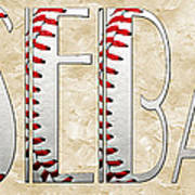 The Word Is Baseball Art Print by Andee Design