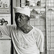 The Worker In Cochin Art Print