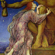 The Worship Of Mammon Art Print by Evelyn De Morgan