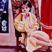 The Yellow Robe Art Print